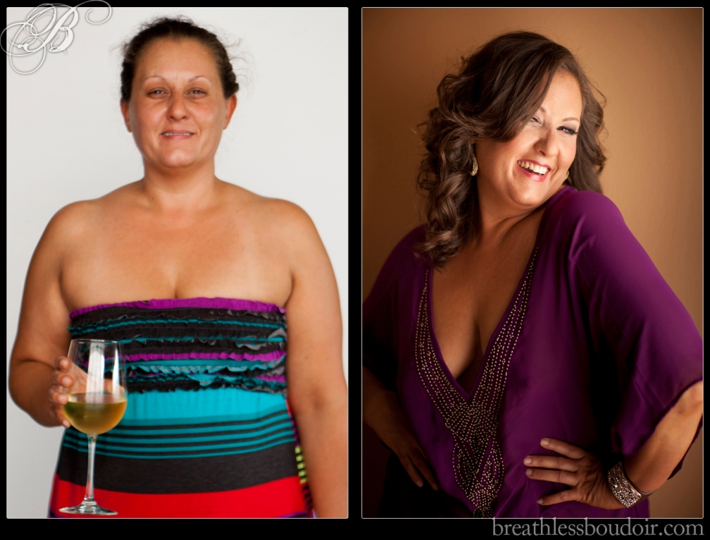 before and after boudoir transformation