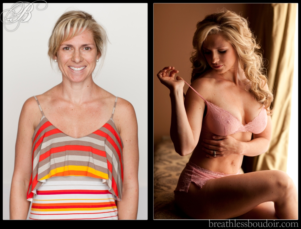 Before and after transformation makeover©2013 Breathless Boudoir